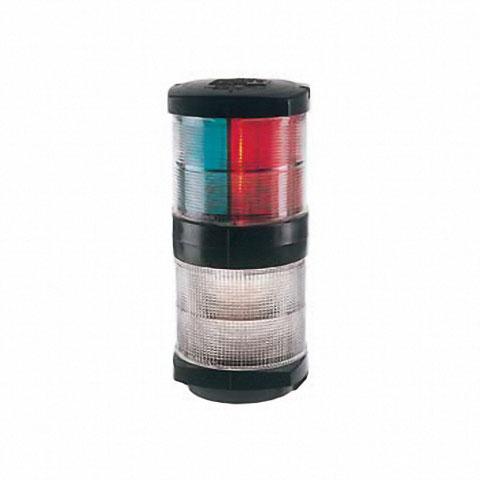 Hella Marine 2984 Seyir Feneri Siyah Plastik - 360° - 3 Renkli/Beyaz Kombine