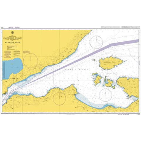 Admiralty Seyir Haritası 1004 - Çanakkale Boğazı - Marmara Adası