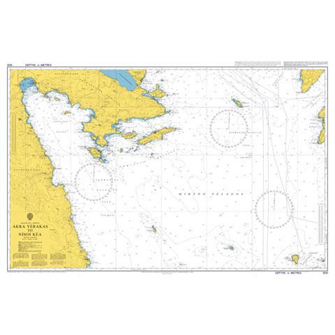 Admiralty Seyir Haritası 1031 - Akra Yerakas - Nisos Kea