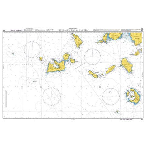 Admiralty Seyir Haritası 1037 - Nisis Falkonera - Nisos Ios