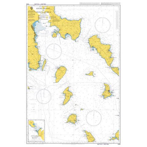 Admiralty Seyir Haritası 1038 - Steno Sifnou - Steno Kafirea