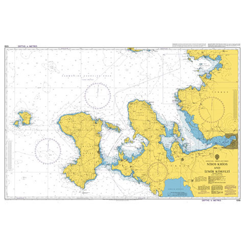 Admiralty Seyir Haritası 1058 - Sakız Adası - İzmir Körfezi