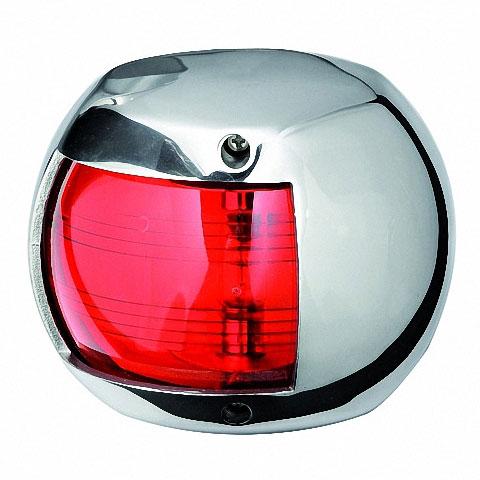 Osculati COMPACT 12 Seyir Feneri AISI 316 Paslanmaz Çelik 12V - İskele - Kırmızı