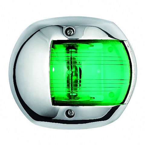 Osculati COMPACT 12 Seyir Feneri AISI 316 Paslanmaz Çelik 12V - Sancak - Yeşil