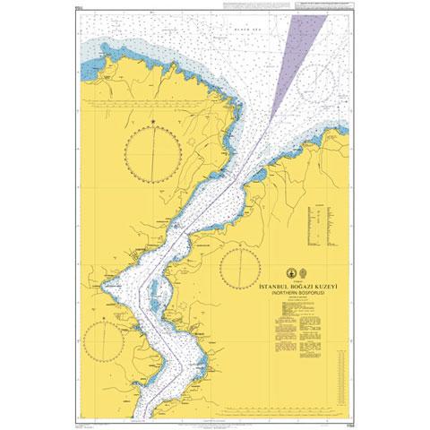 Admiralty Seyir Haritası 1158 - Kuzey İstanbul Boğazı