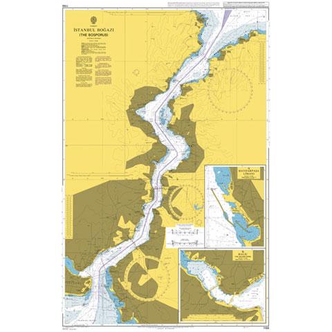 Admiralty Seyir Haritası 1198 - İstanbul Boğazı