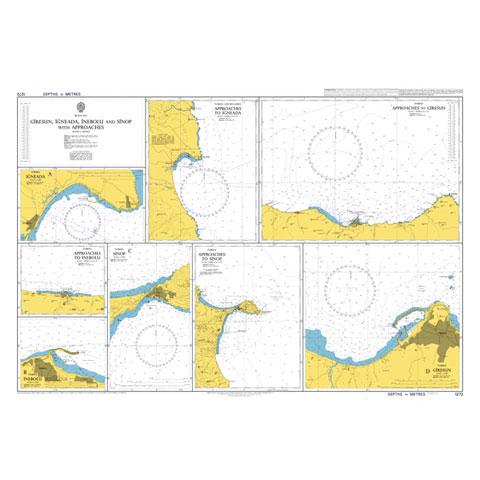Admiralty Seyir Haritası 1272 - Giresun İğneada İnebolu Sinop