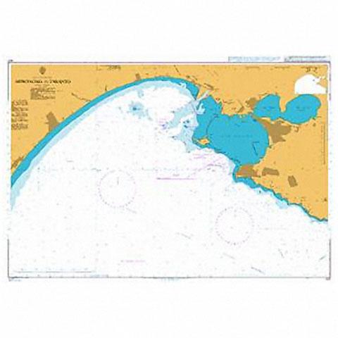 Admiralty Seyir Haritası 1417 - Taranto Girişi