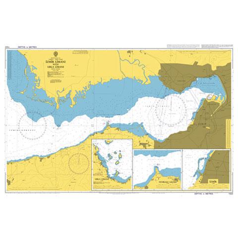 Admiralty Seyir Haritası 1522 - İzmir Limanı - Urla Limanı