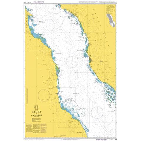 Admiralty Seyir Haritası 158 - Berenice - Masamirit