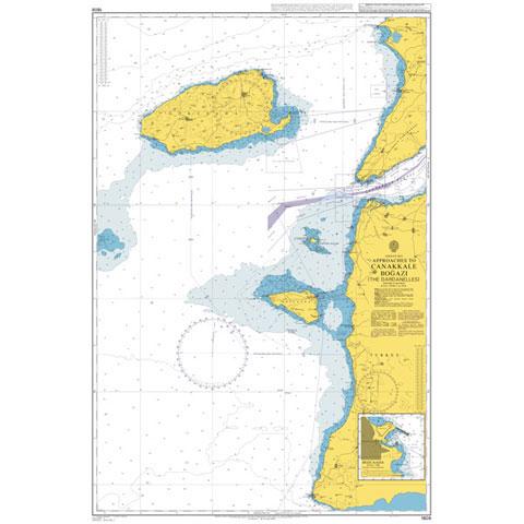 Admiralty Seyir Haritası 1608 - Çanakkale Boğazı