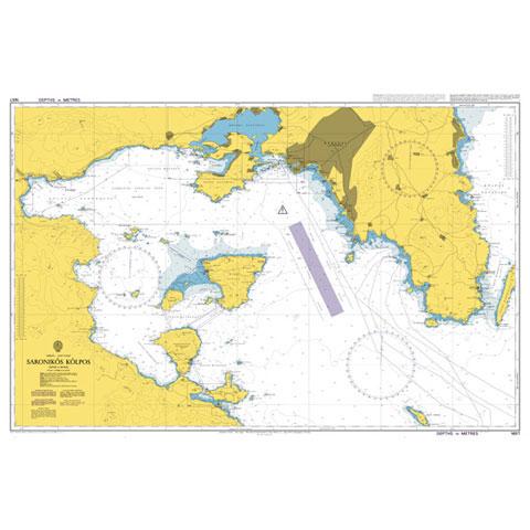Admiralty Seyir Haritası 1657 - Saronikos Kolpos