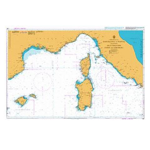 Admiralty Seyir Haritası 1780 - Barcelona - Napoli