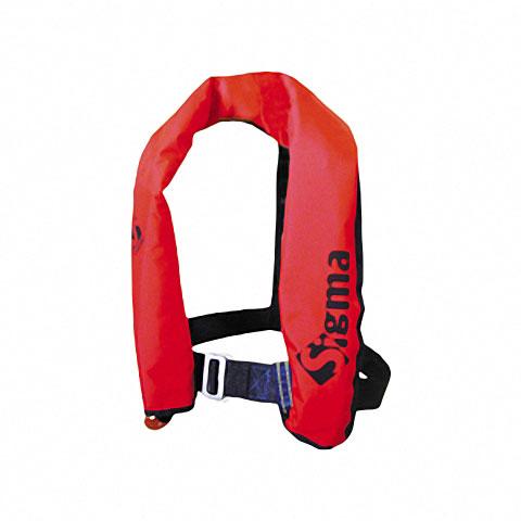 Lalizas Sigma CE 150N Manuel Şişme Can Yeleği - Kırmızı