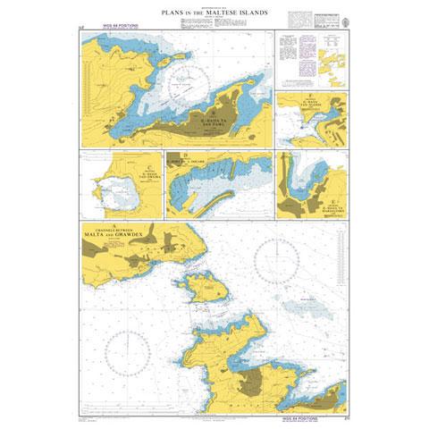 Admiralty Seyir Haritası 211 - Malta Adaları