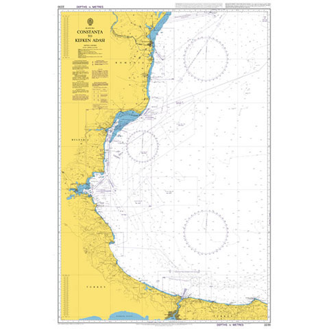 Admiralty Seyir Haritası 2230 - Köstence - Kefken Adası