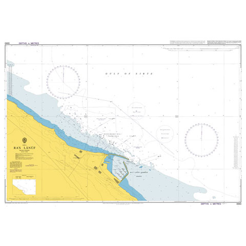 Admiralty Seyir Haritası 3343 - Sirte Körfezi - Ra's Lanuf
