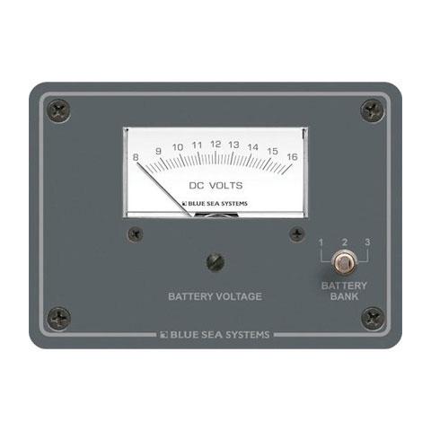Blue Sea Systems 8015 Analog DC Voltmetre - 12V