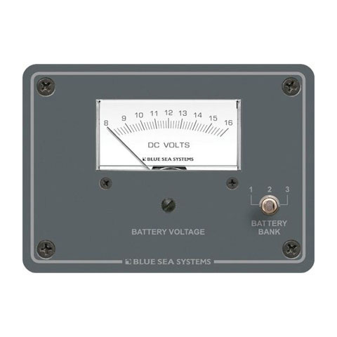 Blue Sea Systems 8015 Analog DC Voltmetre - 12V