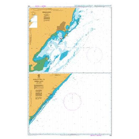 Admiralty Seyir Haritası 1052 - Kismayu ve Çevresi