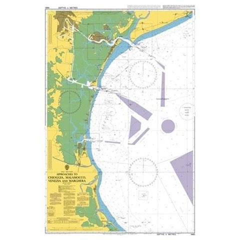 Admiralty Seyir Haritası 1483 - Venedik - Chiaggia ve Çevresi