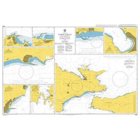 Admiralty Seyir Haritası 1526 - Samos Liman ve Boğazları