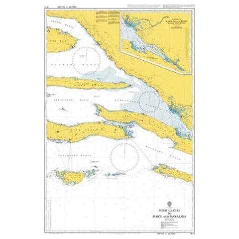 Admiralty Seyir Haritası 1574 - Glavat Adası - Ploce ve Makarska