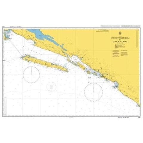 Admiralty Seyir Haritası 1580 - Veliki Skolj Adası - Glavat Adası