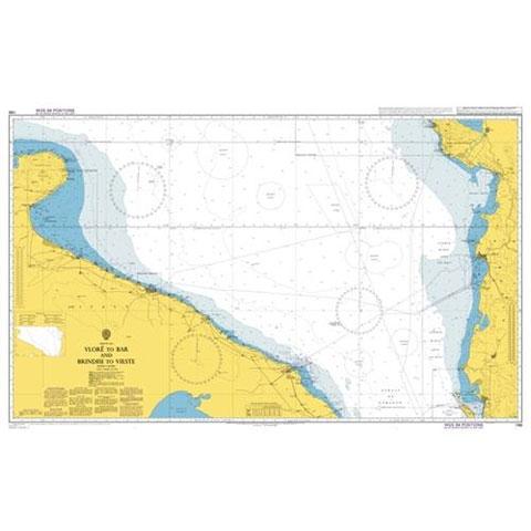 Admiralty Seyir Haritası 186 - Vlore - Bari ve Brindisi - Vieste