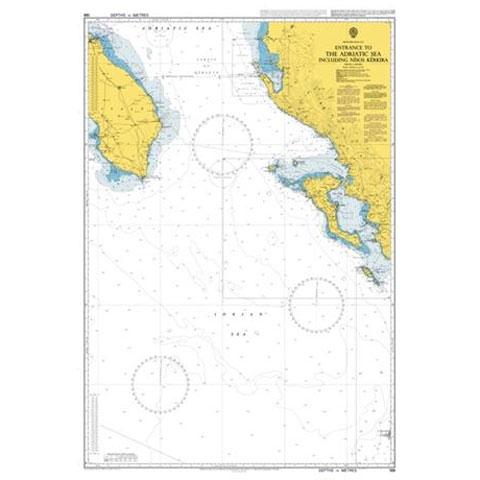 Admiralty Seyir Haritası 188 - Adriyatik Denizi Girişi