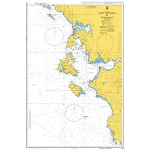 Admiralty Seyir Haritası 189 - Nisida Sapientza - Nisos Paxoi