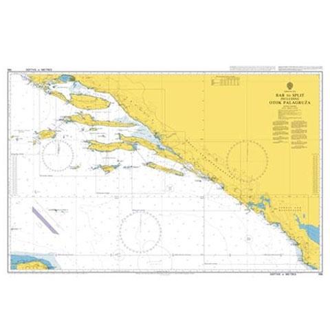Admiralty Seyir Haritası 196 - Bar - Split