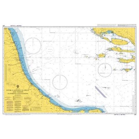 Admiralty Seyir Haritası 200 - Lastovo Adası - Split ve Vieste - Civitanova Limanı