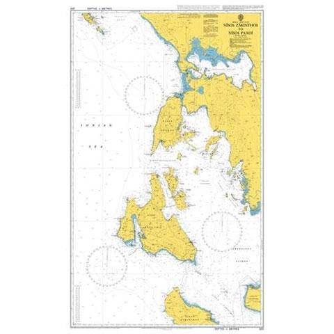 Admiralty Seyir Haritası 203 - Nisos Zakynthos - Nisos Paxoi