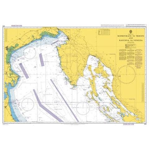 Admiralty Seyir Haritası 204 - Sedmovrace - Trieste ve Ravenna - Venedik