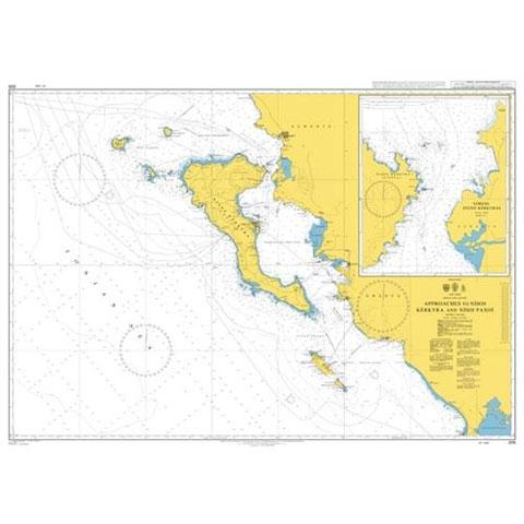 Admiralty Seyir Haritası 205 - Nisos Kerkyra - Nisos Paxoi
