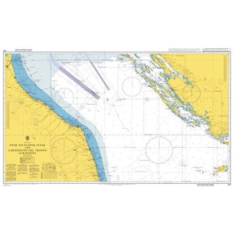 Admiralty Seyir Haritası 220 - Vis Adası - Susak Adası ve San Benedetto del Toronto - Ravenna