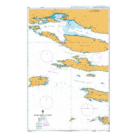 Admiralty Seyir Haritası 2712 - Susac Adası - Split