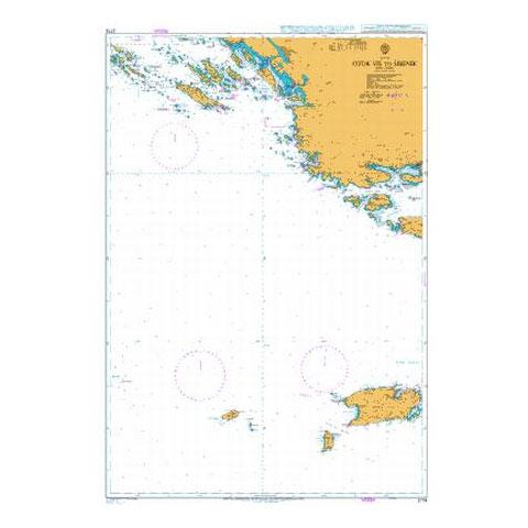 Admiralty Seyir Haritası 2774 - Vis Adası - Sibenik