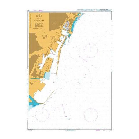 Admiralty Seyir Haritası 1180 - Barcelona
