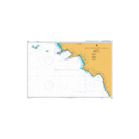 Admiralty Seyir Haritası 1908 - Ischia Adası - Bonifati Burnu