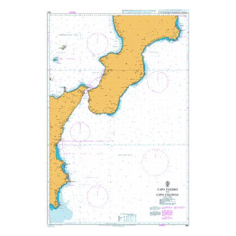 Admiralty Seyir Haritası 1941 - Passero Burnu - Colonna Burnu
