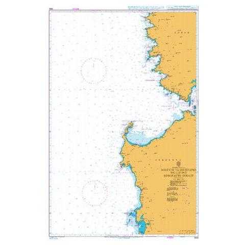 Admiralty Seyir Haritası 1985 - Ajaccio - Oristano