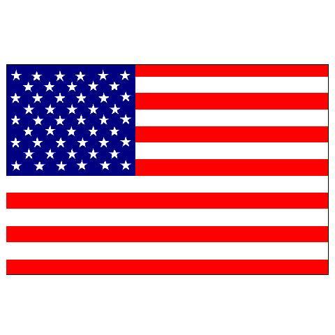 Alsancak Bayrak - Amerika - 30x45cm