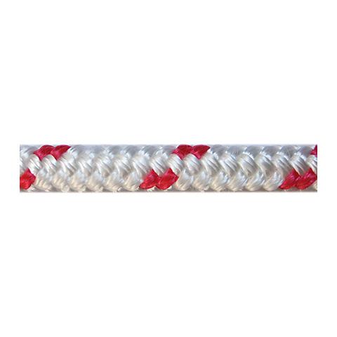 Dim-Ka Iskota Halatı 10mm. Beyaz-Kırmızı