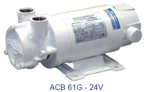 Gianneschi ACB 61G B Genel Maksatlı Pompa  - 24V CC 0,18kw 3200rpm