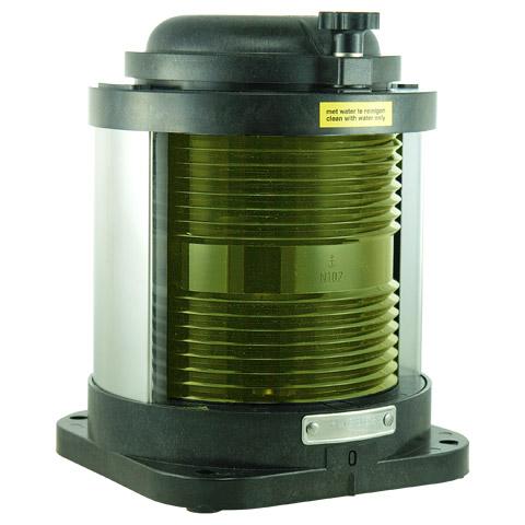 D.H.R. DHR55 Seyir Feneri Cam Elyaf Takviyeli Siyah Plastik - Dar Açı - Sarı Yedekleme