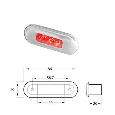 Hella Marine 9680 LED Step Serisi Kırmızı Ledli Lamba