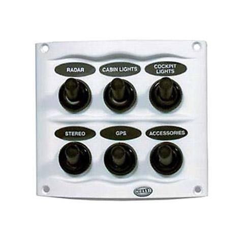 Hella Marine Kompakt Switch Panel - 20 A. 6 Anahtarlı - Beyaz