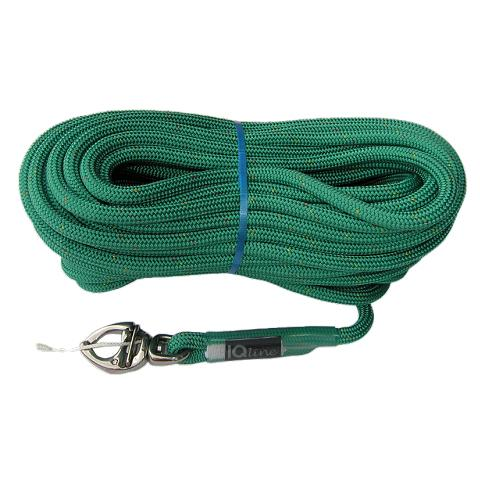 Polyropes IQLine Racing Spinnaker Balon/Gennaker Iskota Halatı 8mm. Yeşil - 20m. - Shackle ile